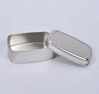 150ml Rectangular Box with Lid in Silver