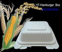 Cornstarch Hamburger Box 450ml