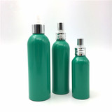 Green Bottle with Aluminum Sprayer